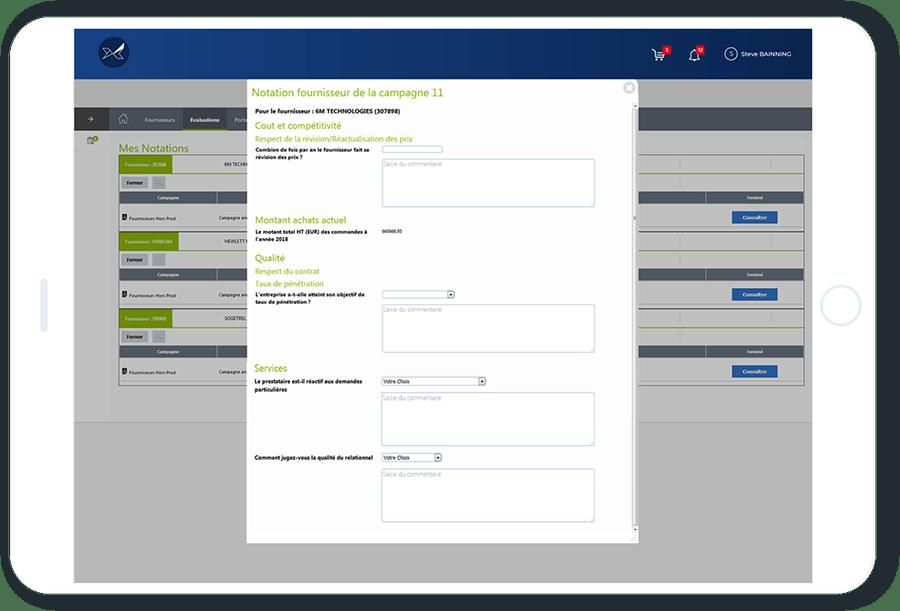 Les fonctionnalités d'évaluation des fournisseurs Oxalys permettent de donner la parole à tous les collaborateurs en contact avec vos fournisseurs (acheteurs, opérationnels, magasiniers, ...)
