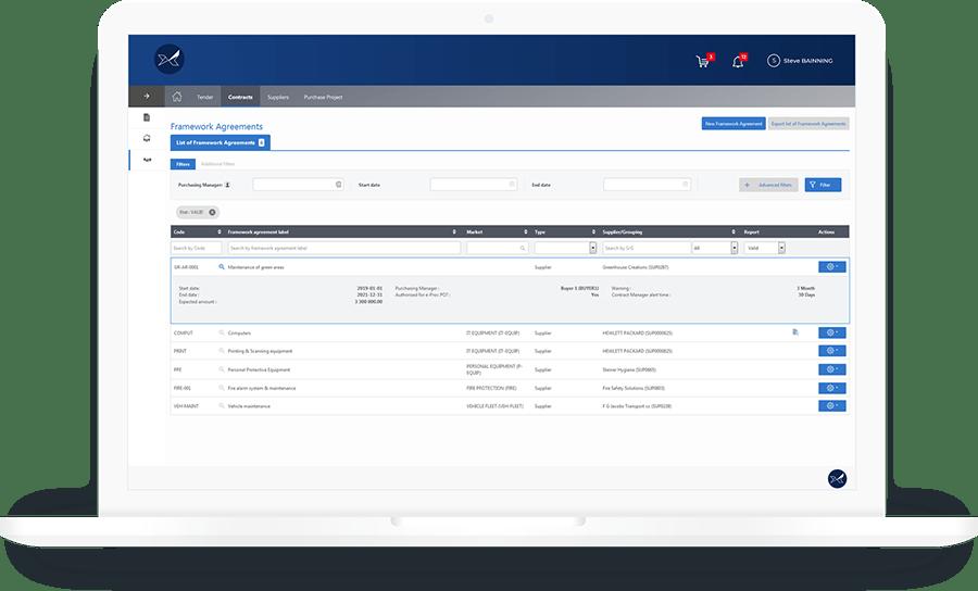 Le Logiciel de gestion des contrats et marchés Oxalys vous permet de digitaliser vos contrats fournisseurs depuis la négociation jusqu'à la gestion de vos accords-cadres