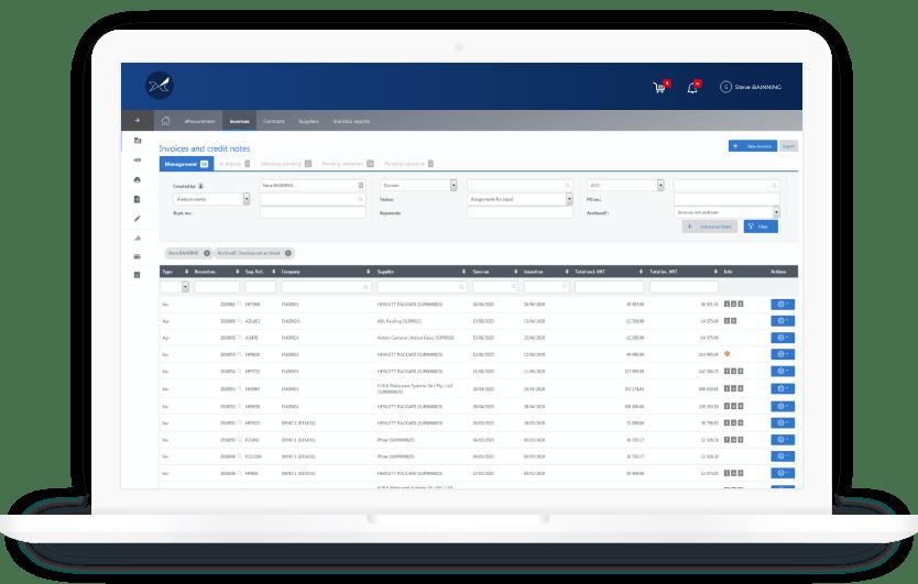 La solution de gestion des factures fournisseurs Oxalyspermet d'automatiser le processus traitement des factures fournisseurs