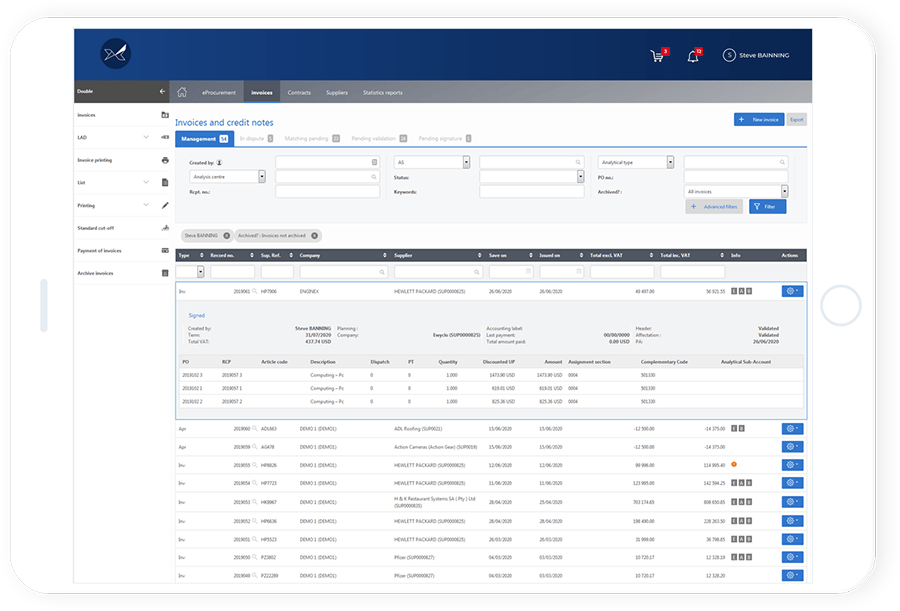 Supplier Invoice Management by Oxalys