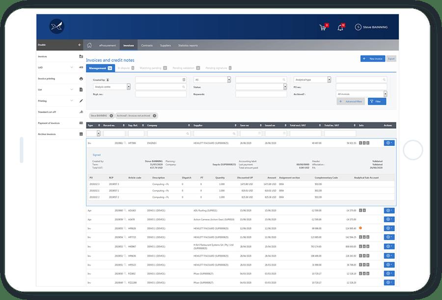 Le logiciel de gestion des factures fournisseurs Oxalyspermet de dématérialiser le traitement des factures fournisseurs