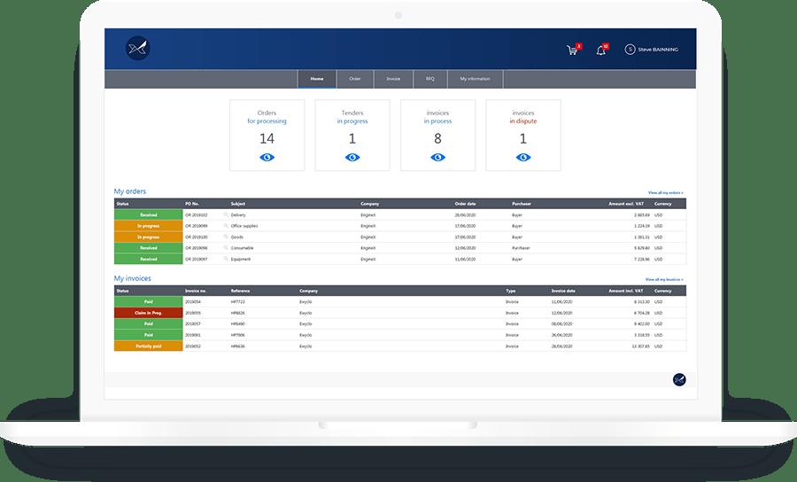 Le portail fournisseurs Oxalys facilite le processus d'intégration du fournisseur à travers un canal de communication privilégier avec les différents interlocuteurs de l'entreprise (achats, qualité, comptabilité, …)