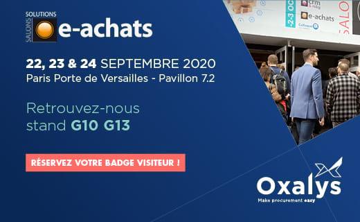 Rencontrez l'équipe Oxalys et découvrez nos solutions aux Salons Solutions 2020