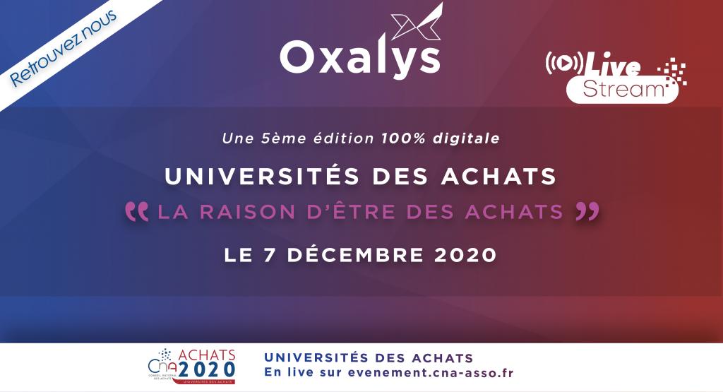 Oxalys partenaire des Universités des Achats 2020