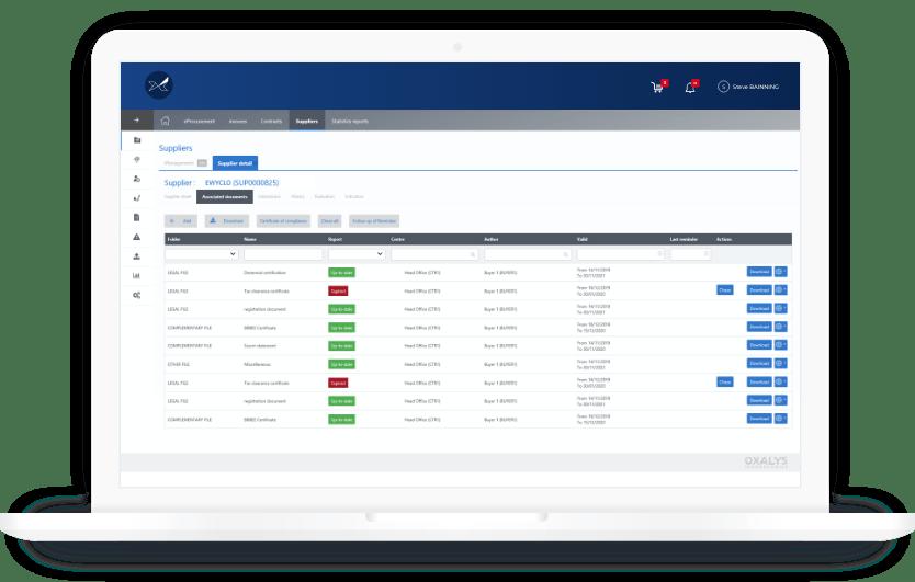 Avec le logiciel de gestion des fournisseurs Oxalys disposez d'une vue à 360° des informations fournisseurs