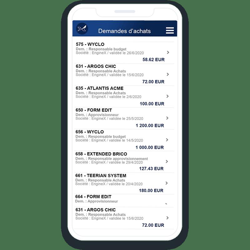 L'application mobile de suivi des achats Oxalys permet de garder la maitrise de vos achats où que vous soyez